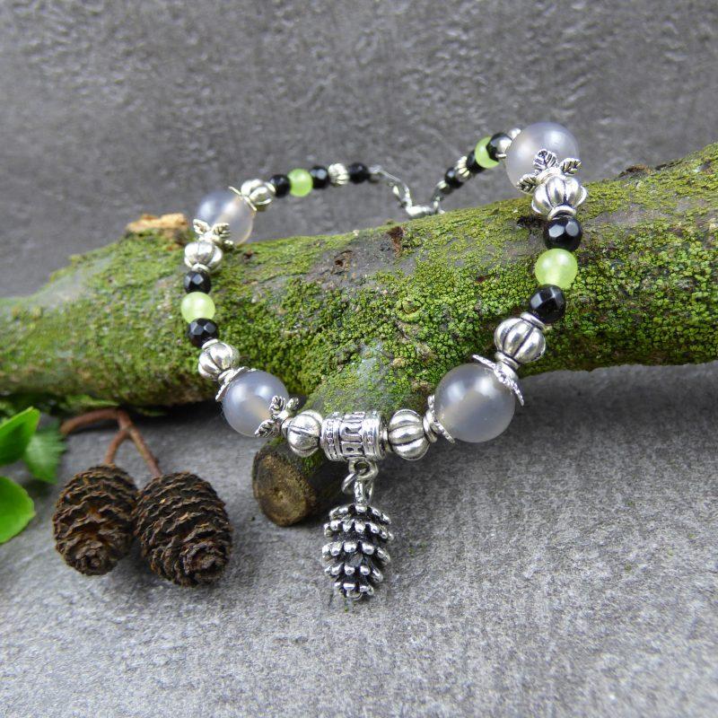 bracelet médival, féerique et poétique inspiré de la nature
