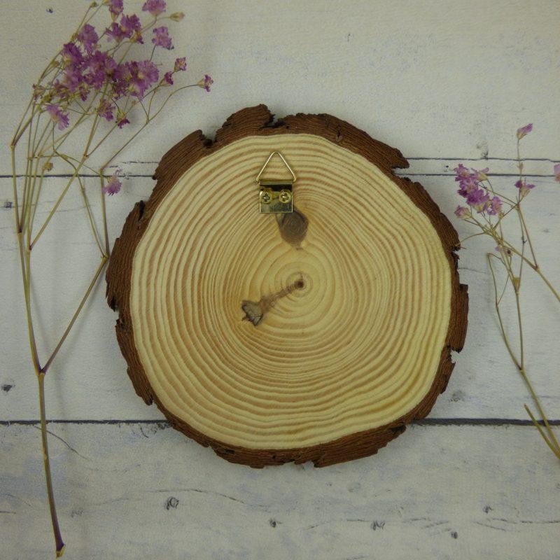 tranche de bois d'érable avec attache au verso