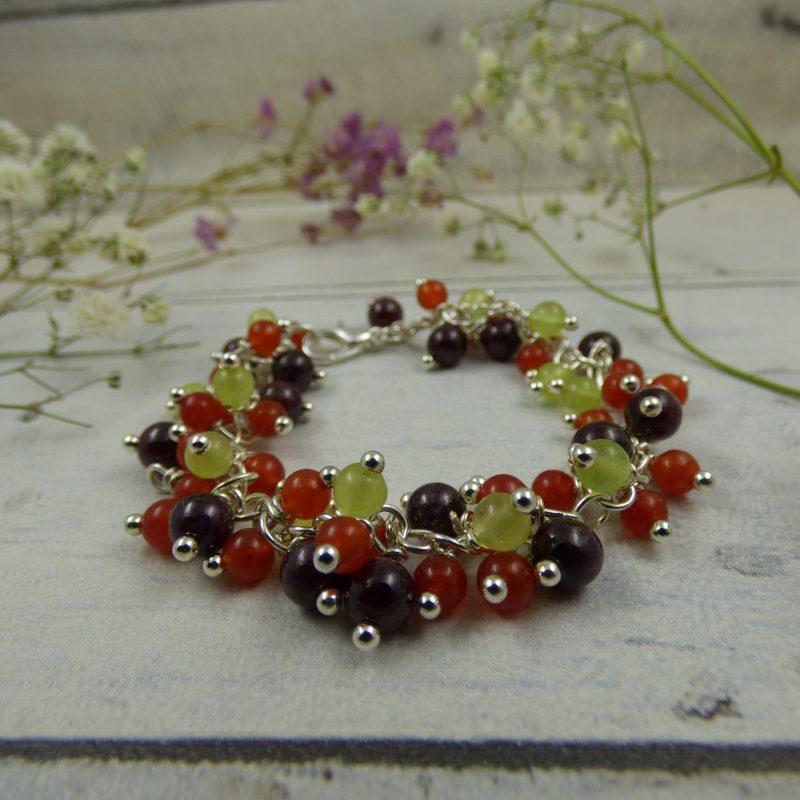 bracelet unique en pierres naturelles