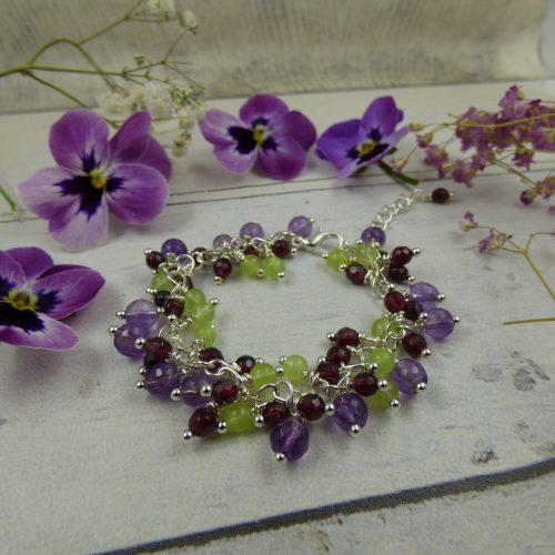 bracelet féerique en pierres naturelles