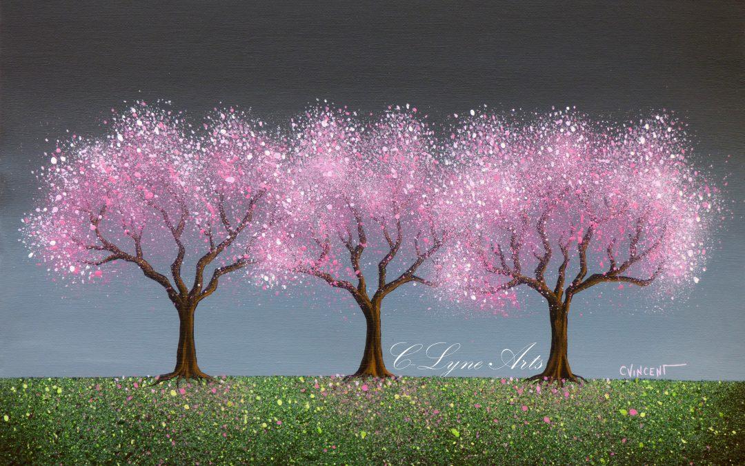 Tableau «Cerisiers scintillants»