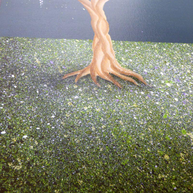 peinture d'arbre, tronc de l'arbre