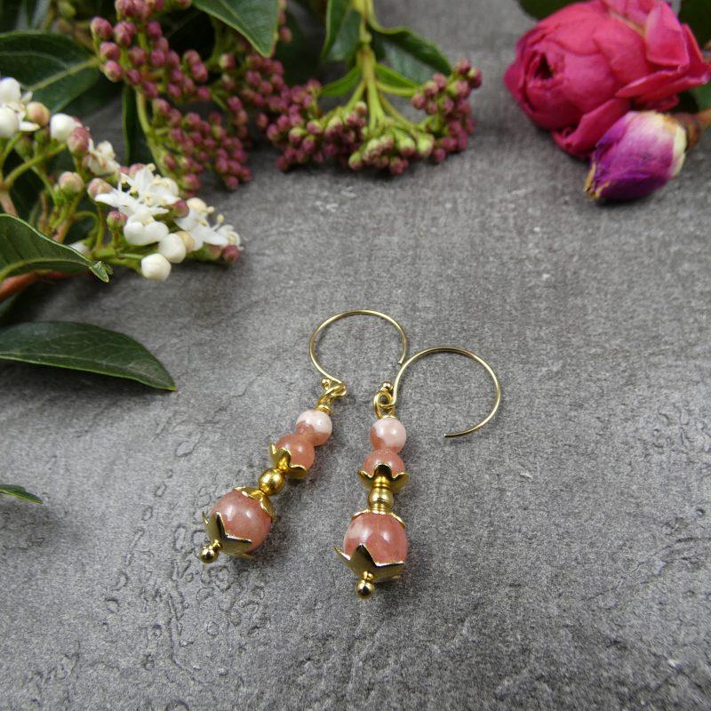 bijou artisanal en pierre naturelle de rhodochrosite