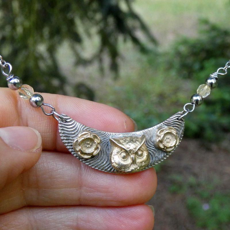 collier artisanal en pierre naturelle de citrine