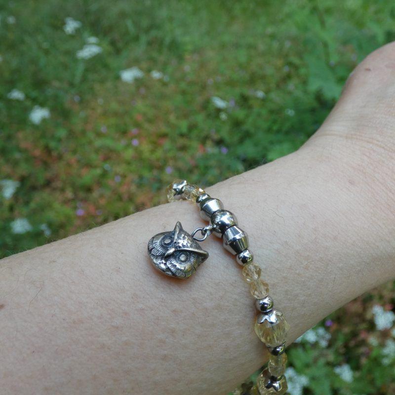 bracelet artisanal en pierre naturelle de citrine